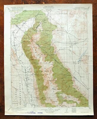 1917 White Mountain California Antique USGS Topo Map Boundary Peak Wilderness