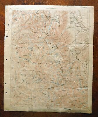 1912 Mount Goddard California Antique USGS Topo Map West Bishop Topographical