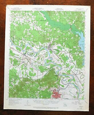 Campti Louisiana Vintage USGS Topographic Map 1957 Natchitoches 15-minute Topo