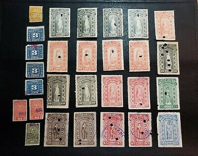 Canada FAULTY LOT #BCL5-6-8-13-17-25-27 British Columbia Law Stamp Revenue #A241