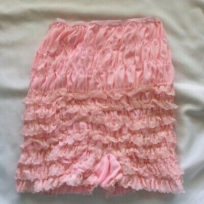 Square Dance Pettipants Pink Partners Please Vintage Missing tag Size S Nylon
