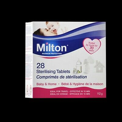 Milton Sterilising Tablets 28 Brand New Box / UK Seller / FREE SIGNED DELIVERY