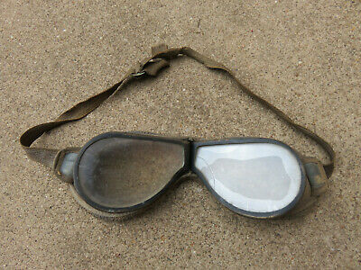 Flying Goggles Ww1 Or Post Era Driving Motor Cycle