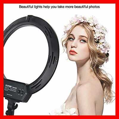 """Ring Light Kit 16"""" W Stand LED Dimmable 50W Adjustable 3200 5500K Carryin 16Inch"""