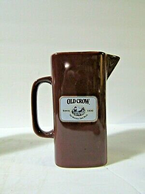 Old Crow Whiskey Pitcher Pub Jug Limited Edition By Wade China YOUR CHOICE