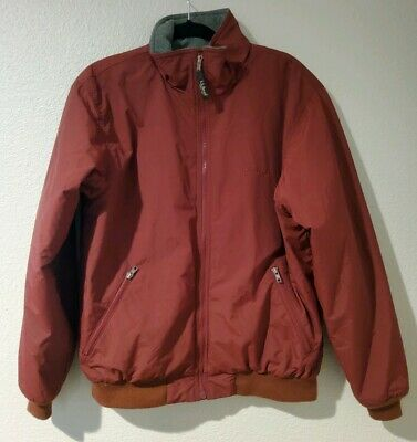 Men's LL BEAN Soft Shell Fleece Lined Jacket Thinsulate Insulation Size M Red