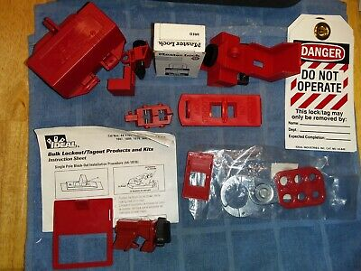Ideal lock out tag out kit 44-1810 New safety