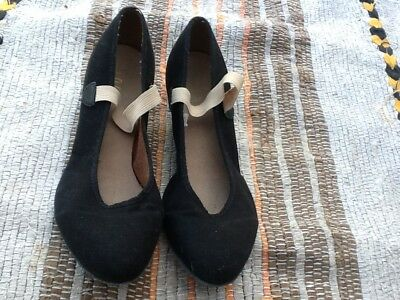 BLOCH Girls Black Canvas Cubic Heel Character Shoes*size 5L