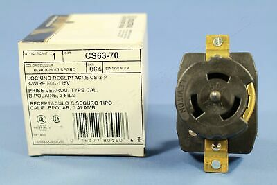 New Leviton California Twist Locking Receptacle CS Outlet 50A 125V CS63-70 Boxed
