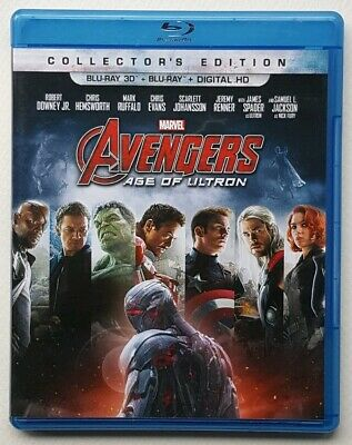 AVENGERS AGE OF ULTRON 2 Disc Blu-ray 3D Set Marvel Cinematic Collectors Edition