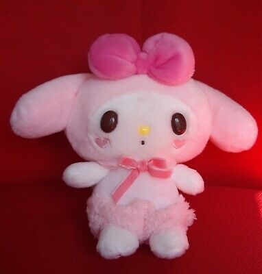 Cute Girl/'s My Melody Plush Doll Stuffed Toy Blue Bow Gift Collection 18cm Decor