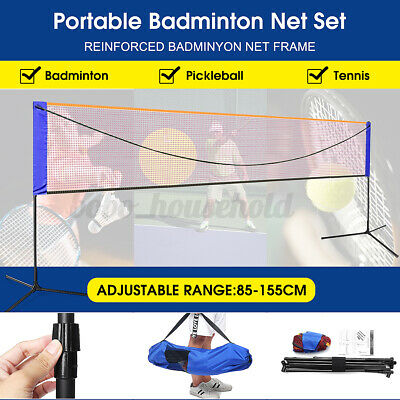 Portable 20 Feet Badminton Volleyball Tennis Net Set with Stand/Frame Carry Bag