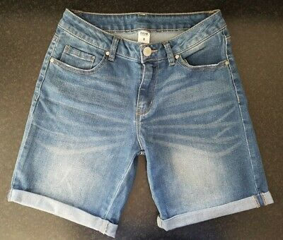 'Now' Ladies Blue Denim Bermuda Stretch Shorts - Size 8