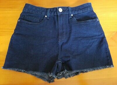 'Now' Ladies Dark Blue Stretch Denim Shorts - Size 8