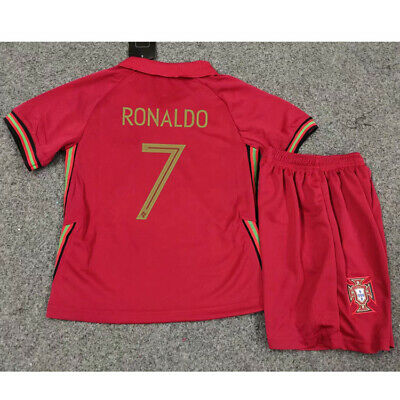 2020 New Football Red Home Kit Kids Youth 3-12 Yrs Jersey Strip Shorts Team Suit