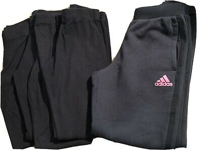 Girls Black Primark Leggings & Adidas Tracksuit Bottoms Age 9-10