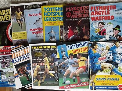 1980S Fa Cup Semi Final Programmes ~ You Choose Which ~ Free Postage