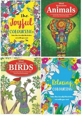 MIND RELAXING COLOURING BOOK BOOKS Kids - Adult Stress Relief Colour Therap