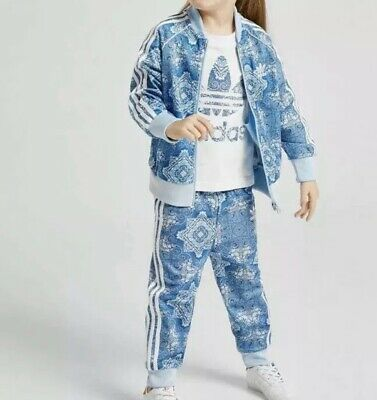 adidas originals superstar all over print girls tracksuit size 3-4 year
