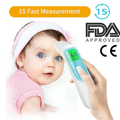 LCD Digital Infrared Thermometer Non-contact Temperature Ear Forehead Baby FDA