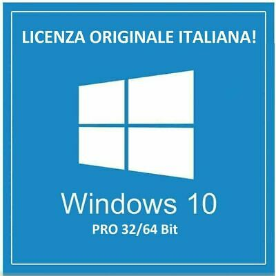 Licenza Windows 10 professional pro key ESD 32 64 bit license activation code