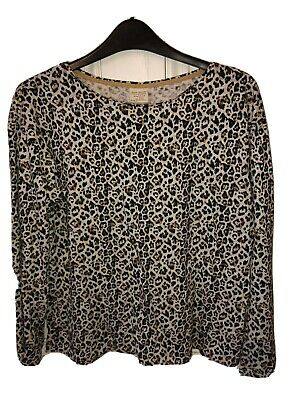 Zara Girls Soft Collection Leopard Print Cotton Top Size 13/14 - 164 Cms