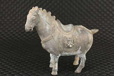 Chinese old bronze hand carved horse statue figure collectable ornament