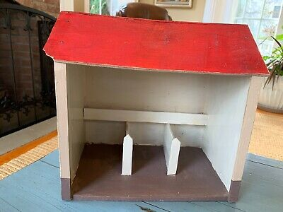 Putz Barn Stable Wooden Wood Germany German Nativity Toy Antique