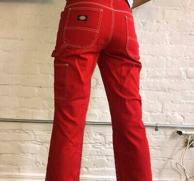 Dickies Red Cargo Pants Size 26