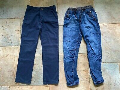 2 X Boys Blue Jeans/trousers. Navy Blue M&S & NEXT Jeans. Age 10-11 Years