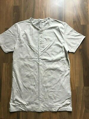 Mens Boys Next Oatmeal granda shirt slim fit Size M