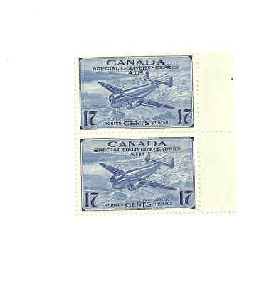 2 Canada 1943 17 cent air mail special delivery #ce2  postage stamps MNH