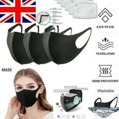 10X Breathable Mask with Valves Washable Face Mouth Masks Anti Haze Pollution DY