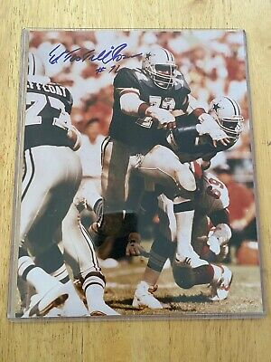 Autographed Picture Ed Too Tall Jones