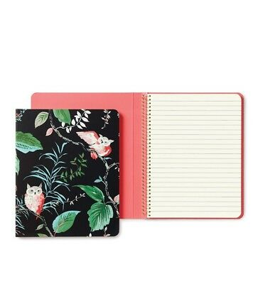 Kate Spade New York Spiral Notebook Birch Way Owl Floral Animal Modern Office