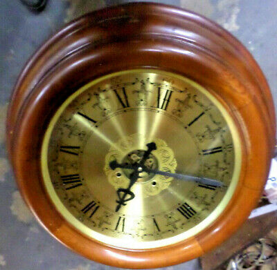 Terrific Vintage Coffee Table Clock With 16 Inch Dial & 8 Day Striking Movement