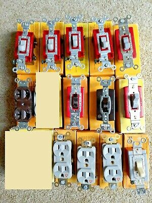 Lot of 13 Hubbell Switches and Receptacle *NEW*