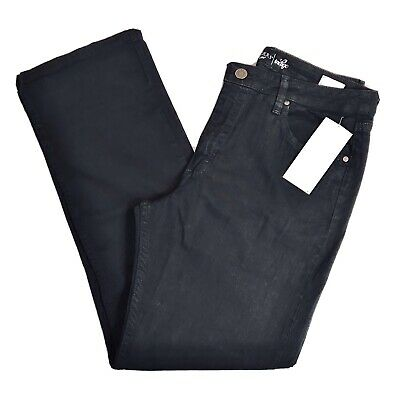 Riders By Lee Indigo Womens Relaxed Fit Straight Leg Jean Black 14M