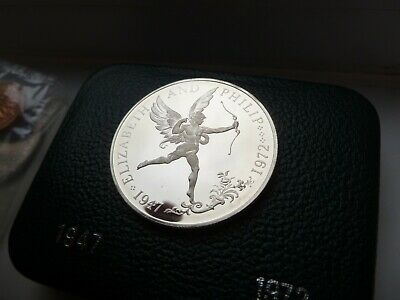 1972 Gb Sterling Silver  Proof Crown Coin (28.28 Grams .925 Silver)