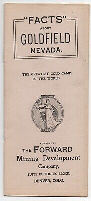 """1906 Promotional Booklet """" Facts about Goldfield Nevada """" with Photos"""