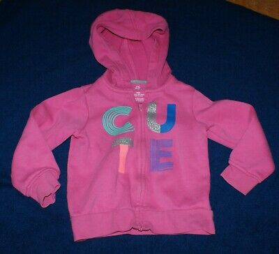 Pink Toddler Girls Hooded Jacket By Okie-Dokie -Size 24 Months