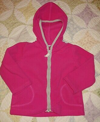 Pink Toddler Girls Hooded Fleece Jacket By Carters-Size 24 Months