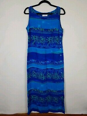 St Michael Marks Spencer Womens Size UK 12 US 10 Dress Midi Island Button M