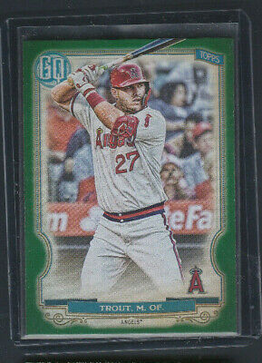 2020 Topps Gypsy Queen GREEN Parallel # 300 Mike Trout