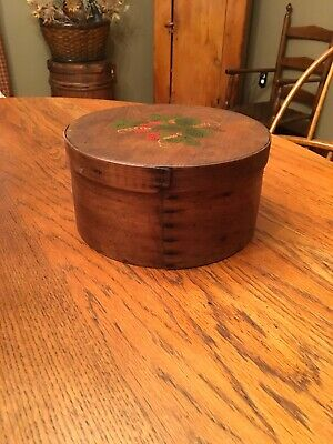 Antique Primitive Folk Art Shaker Bentwood Pantry Box AAFA