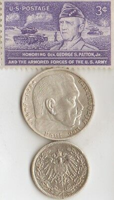 *us and *german-1905(.900%) and *WW2 -SILVER EAGLE, steel coins/stamps+