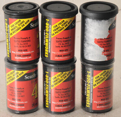 6 rolls of Seattle Film Works ASA 200 & 400 Color film, 20 exp per roll, sealed