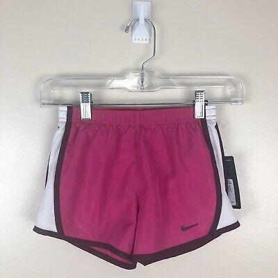 NWT Youth Girls Nike Dri-Fit Running Fitness Shorts Active Pink Size 6X