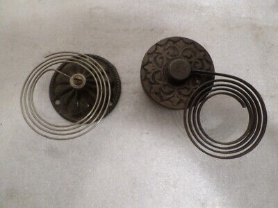 2 American Parlor/Kitchen Clock Gongs With Gong Base Circa 1885