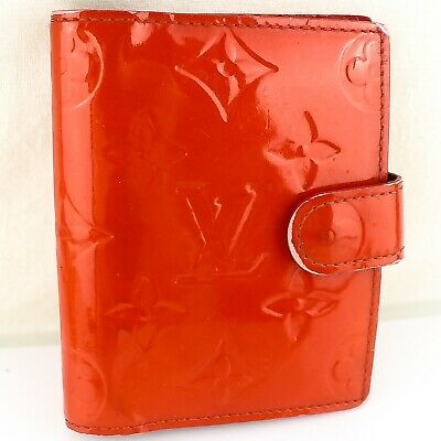 Auth LOUIS VUITTON AGENDA MINI Notebook Day Planner Cover Vernis Leather R21024